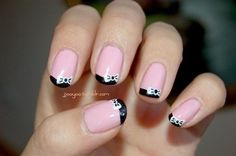 Bow Tie French Nails | LUUUX