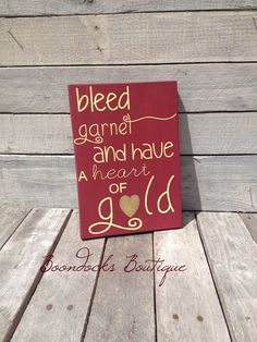 Bleed Garnet and have a heart of GoldUnique by BoondocksBoutique, $15.00