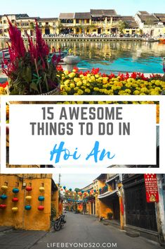 Hoi An is the charming picturesque town in Vietnam that we fell head over heels for. With lanterns decorating the streets, rustic and French-inspired buildings, the sellers on the streets, and beautiful rice fields a short bike ride away, we have to say we found the perfect little town in Vietnam.  There are many things to do in Hoi An. #vietnam #hoian #travel #asia #southeastasia