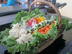 I use veggie and or fruit baskets for a lot of different of celebrations. They work great on a buffet or appetizer table. They are pretty easy to assemble and make a real statement on the food table! Lets make one together! Materials for your Veggie or Fruit Basket: Basket [...]