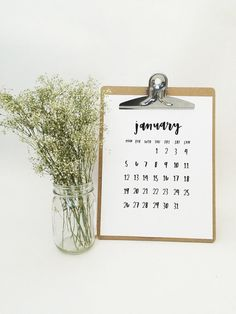 Monthly Wall Calendar 2015 Printable • Minimalist • A4 + A5 and Letter + Half Letter