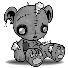 emo bear coloring pages | 1000+ images about emo bears on Pinterest | Teady bear ...