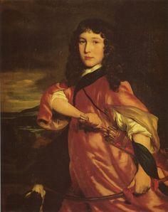 Nicolaes Maes - - - Portrait of a boy as hunter