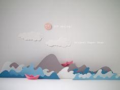 origami paper boat by La maison de Loulou