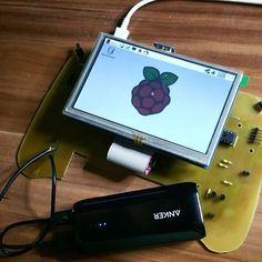 Something we loved from Instagram! It works #raspberrypi #computer #controller #opensource #hdmi #lcd #display #rasbian #science #i2c #success #anker #powerbank #schule by science4fun Check us out http://bit.ly/1KyLetq