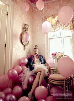 Get the party started with some pink balloons.