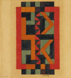 Auguste Herbin - Composition, c. 1925. In 1929 Herbin was a co-founder of the 'Salon des Surindépendants'. Two years later he founded the artist association 'Abstraction-Création' together with Vantongerloo with whom he published the group's Almanach until 1937.
