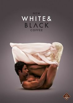 best print - Coffee Inn Coffee Houses : If there's one thing advertisers know, it's that sex sells. Oftentimes extremely creative print ads make it difficult to tell what is actually being advertised, but sometimes a piece is able to be abstract whil Coffee Advertising, Creative Advertising, Advertising Design, Poster Ads, Advertising Poster, Advertising Campaign, Black And White Coffee, Black White, Color Black