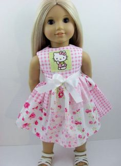 Hello Kitty Shabby Chic Doll Dress for the American Girl Doll