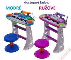 Detské piano so stojanom, stoličkou, mikrofonom, nahravaním, 2 f