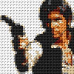 Han Solo (Star Wars) with blaster LEGO Mosaic - 15 in x 15 in by CreativeSquareStudio