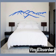 mountain wall decal vinyl decal car decal ns30