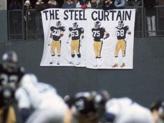 Pittsburgh Steelers Football, Pittsburgh Sports, Nfl Sports, Steel Curtain, Banner, Reusable Tote Bags, Curtains, Banner Stands, Blinds