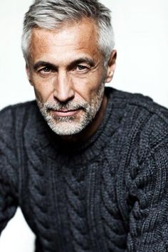 Andreas von Tempelhoff, model : via Silver Foxes Grey Hair Model, Gray Hair, Silver Hair Men, Silver Foxes Men, Hair And Beard Styles, Hair Styles, Men Over 50, Beard Grooming Kits, Hommes Sexy