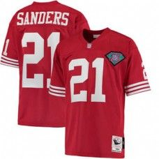 nfl jersey 80 off mens san francisco deion sanders mitchell ness scarlet 1994 authentic throwback jersey