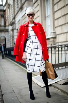 black and white with a pop of red. Photo by Anna Stokland.