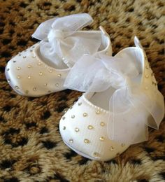 Hey, I found this really awesome Etsy listing at https://www.etsy.com/listing/128518935/satin-and-rhinestone-baby-shoes
