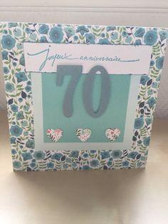 Carte de vœux joyeux anniversaire 70 ans : Cartes par sab-and-paper                                                                                                                                                     Plus