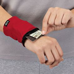 Wrist Wallet. No pockets? Secure your keys, credit cards, cash and more. This would be good for traveling.