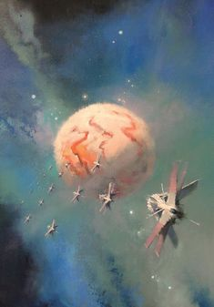 Science Fiction World Arte Sci Fi, 70s Sci Fi Art, Arte Tribal, Spaceship Art, Art Articles, Futuristic Art, Science Fiction Art, Pulp Fiction, Environment Concept Art