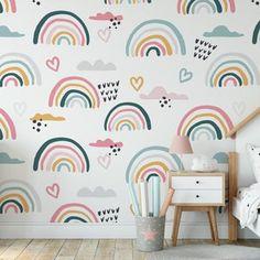 Old Wallpaper, Heart Wallpaper, Fabric Wallpaper, Nursery Wall Murals, Bedroom Murals, Art Mural Photo, Latex, Fabric Wall Decor, Peel And Stick Vinyl