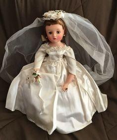 Reddish Brown Hair, Bride Dolls, Madame Alexander Dolls, Here Comes The Bride, Vintage Dolls, Garter, Mink, Nylons, Flower Girl Dresses