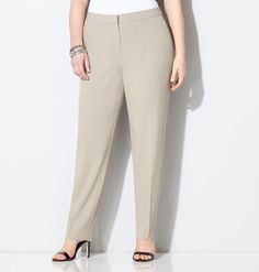 Shop flattering work looks for your career wardrobe like our plus size Modern Slim Leg Pant with Comfort Waist available online at avenue.com. Avenue Store