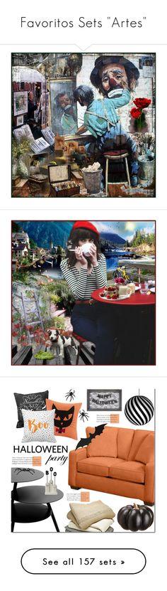 """Favoritos Sets ""Artes"""" by alves-nogueira ❤ liked on Polyvore featuring art, interior, interiors, interior design, home, home decor, interior decorating, Madison Park, David Trubridge and Pulpo"