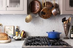Copper pots and a Le Creuset Dutch oven are timeless kitchen staples that will last a lifetime!