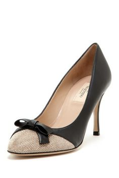 Valentino Rhinestone Cap Toe Pump on @HauteLook  how gorgeous would these be peeking out from under a pair of trousers