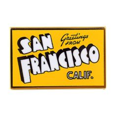San Francisco Postcard Pin from Valley Cruise Press