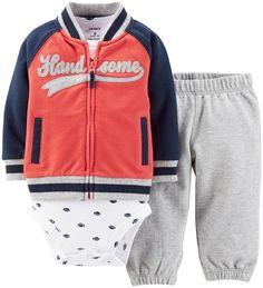 Carter's Baby Boys' 3 Piece Cardigan Set (Baby) - Handsome - 3 Months