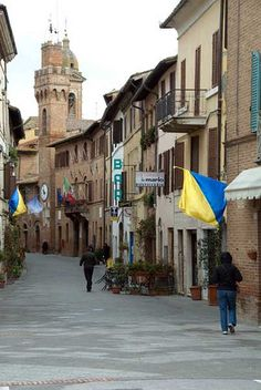 """Around Tuscany - 10 magical towns"":  7) Buonconvento, Siena – Situated in the area known as the Crete Senesi – an ocean of hills that make up a starkly harmonious landscape – this small town is utterly charming. Surrounded by brick walls, it is a destination in the Val d'Orcia that shouldn't be missed."