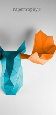 Some fun colors won't hurt your walls! This papertrophy is to die for!