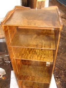 VINTAGE SOLID WOOD  STEREO STAND