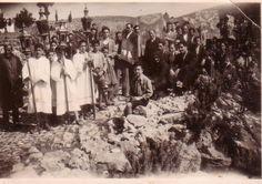MOXOΣ - ΗΡΑΚΛΕΙΟΥ - ΚΡΗΤΗ...mochos...Moxος: ΛΕΙΤΑΝΙΕΣ..!!!Λειτανία στον Μοχό...18 - 3 - 1957...[φωτο.Λενιώ του Μιχελάνη]