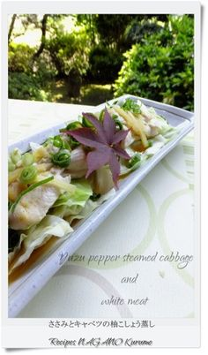 Steamed Chicken Tenders and Cabbage with Yuzu Pepper Paste