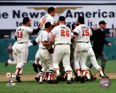 1970 orioles | The Baltimore Orioles celebrate after winning Game Five of the 1970 ...