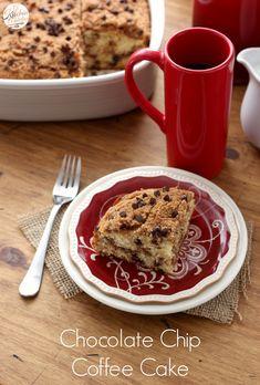 Chocolate Chip Coffee Cake l www.a-kitchen-addiction.com