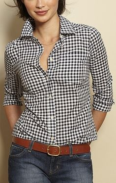 Herringbone Gingham Blouse 113