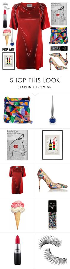 """Pop Art"" by grozdana-v ❤ liked on Polyvore featuring Vera Bradley, Christian Louboutin, Oliver Gal Artist Co., Monde Mosaic, Moschino, L.K.Bennett, Hard Candy, MAC Cosmetics and Trish McEvoy"