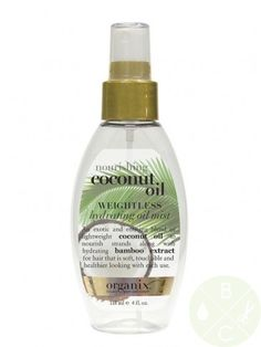 Organix Nourishing Coconut Oil Weightless Hydrating Oil Mist 4oz