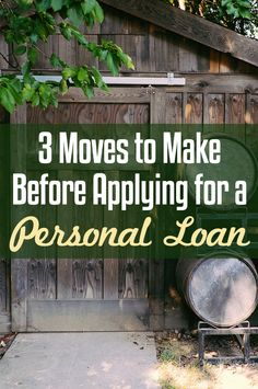 3 Moves to Make Before Considering a Personal Loan Thinking about applying for a personal loan? Try taking these 3 actions before incurring debt and find out when you should consider a personal loan. Apply For A Loan, Get A Loan, How To Apply, Best Payday Loans, Home Equity Loan, Loan Company, Unsecured Loans, Short Term Loans, Instant Cash