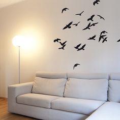 """Les stickers oiseaux de la collection de stickers """"Nature"""" mêlent légèreté avec élégance."""