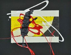 """L'arte di Vittorio Amadio: Tengo e Aomame. Il Murakami che dipingo: """"Aomame. Ha finalmente inizio il tempo degli spiriti"""""""