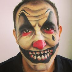 Sad clown makeup by me