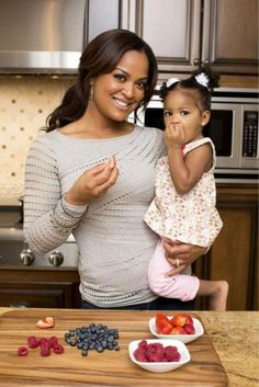 Three-year-old Sydney Conway and her mom Laila Ali.