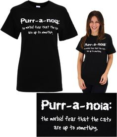 Purr-a-noia T-Shirt at The Animal Rescue Site