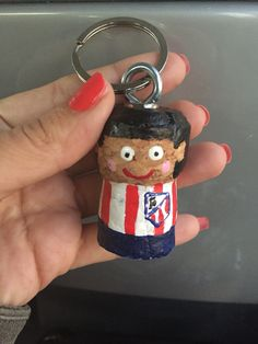 Football player cork Keychain