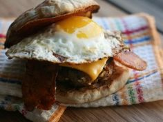 Breakfast Burger : Recipes : Cooking Channel
